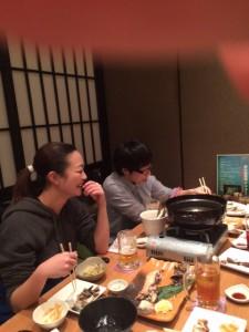 1月スタッフ食事会①